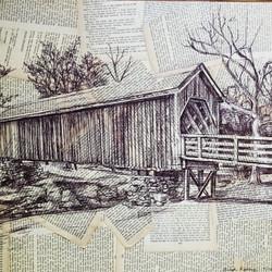 """Old wooden Bridge 18""""-24"""""""