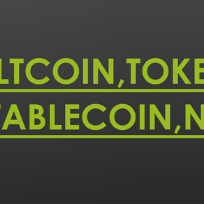 Altcoin, Protocol coin, Token, StableCoin, NFT