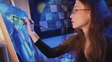 Ideal Universe of painter Arisha Andreeva. Video 1