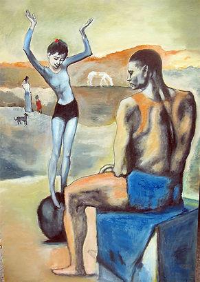 Пабло Пикассо. Девочка на шаре