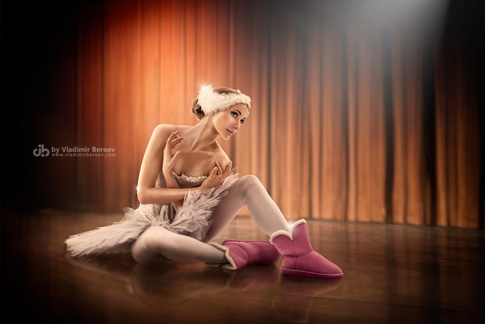 Ballerina in uggs