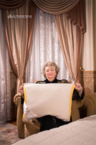 Тренер по фигурному катанию Татьяна Тарасова для авторской серии постельного белья