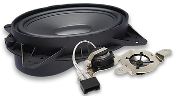 "6 x 9"" Upgraded OEM Replacement Component System     80 Watts RMS/160 Watts Max     Injection Molded PP Cone     20 oz. Magnet     Nylon OEM Speaker Adapter     1"" Inverted Titanium Dome Tweeter     Inline Crossovers      Factory Plug and Play Wiring Adapters     4-ohm System Impedance"