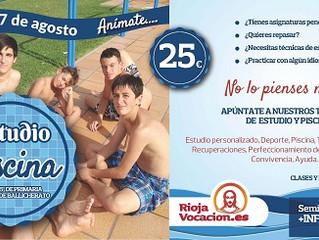 """Del 14 al 17 de agosto: """"Estudio y Piscina"""" (Preseminario)"""