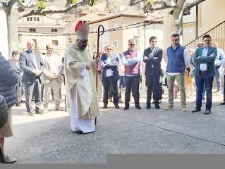 Inauguración y bendición de la torre de la iglesia parroquial de Viguera