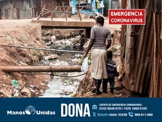 Manos Unidas lanza una campaña de emergencia para ayudar a hacer frente a las consecuencias que la c