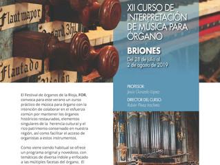 XII Curso de Interpretación de Música para Órgano