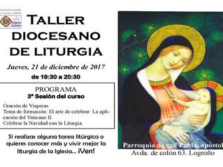 Taller de Liturgia: 21 de diciembre