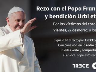 El Papa Francisco concederá indulgencia plenaria a todos los que participen desde sus hogares en su