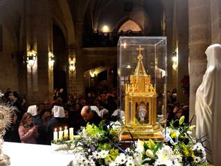 Reliquias de Santa Bernardita: 9-11 de diciembre
