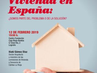 """Charla de Cáritas: """"Vivienda en España"""": 12 de febrero"""