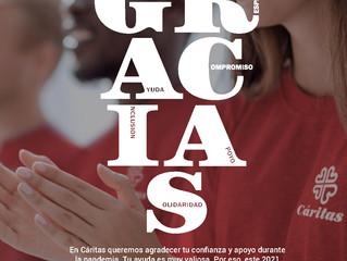 Cáritas lanza la campaña GRACIAS