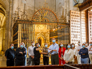 SS.MM. los Reyes de España visitan la Catedral de Santo Domingo de la Calzada