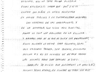 """Carta de un Preso: """"A todos los niños"""""""