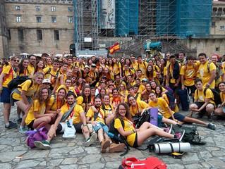 Un centenar de jóvenes riojanos peregrinan a Fátima y Santiago de Compostela