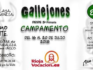Campamento Riojavocación: 16-20 julio
