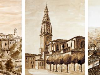 Taquio Uzqueda ha hecho entrega a la Diócesis de Calahorra y La Calzada-Logroño de tres de sus obras
