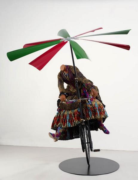 Woman on Flying Machine