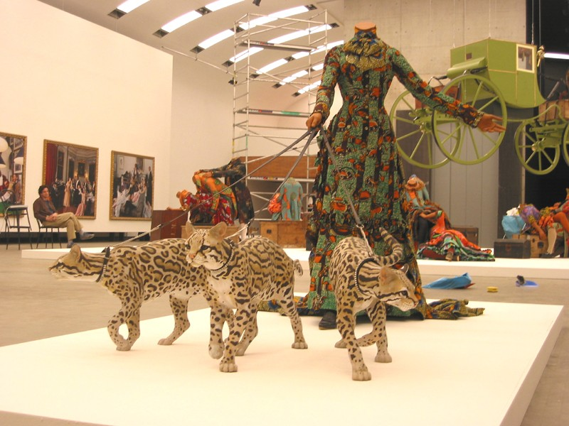 leisurelady with ocelots