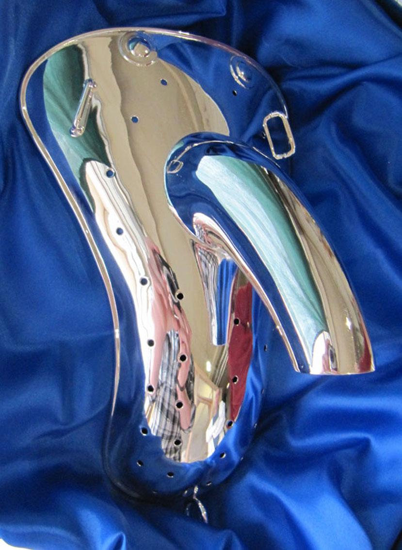 Silver codpiece