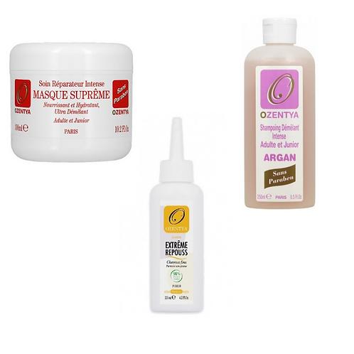 Pack repouss 3 produits cheveux fins Ozentya