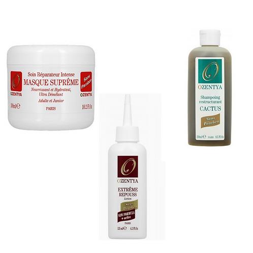 Pack repouss 3 produits cheveux épais Ozentya