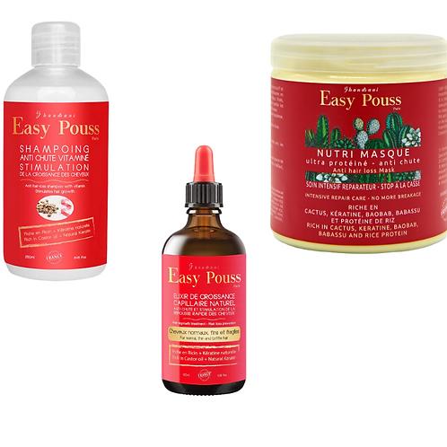 Gamme 3 produits Easy Pouss cheveux fins
