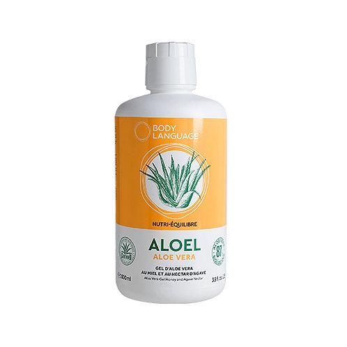 Aloel - Aloe Vera Bio, Miel et Nectar d'Agave 1 Litre