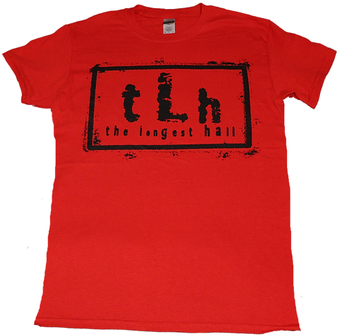 The Longest Hall Black on Red Tee