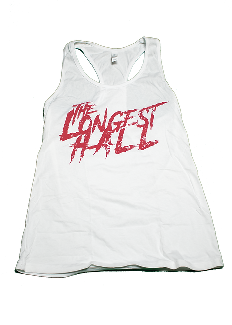 (Retro) Red Retro Logo on White Ladies Tank