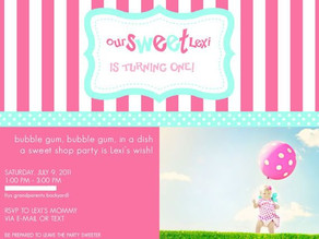 Lexi's 1st Sweet Shop Birthday Party