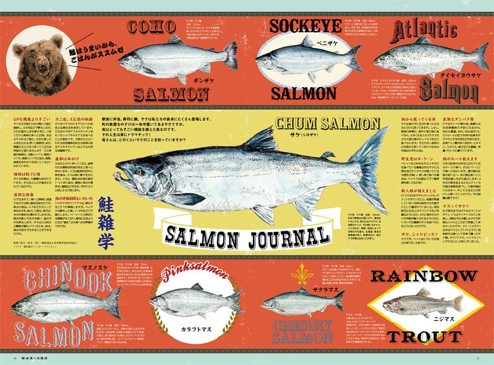「築地食べる通信」『鮭図鑑』