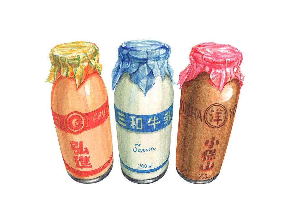 牛乳・コーヒー牛乳・フルーツオレ