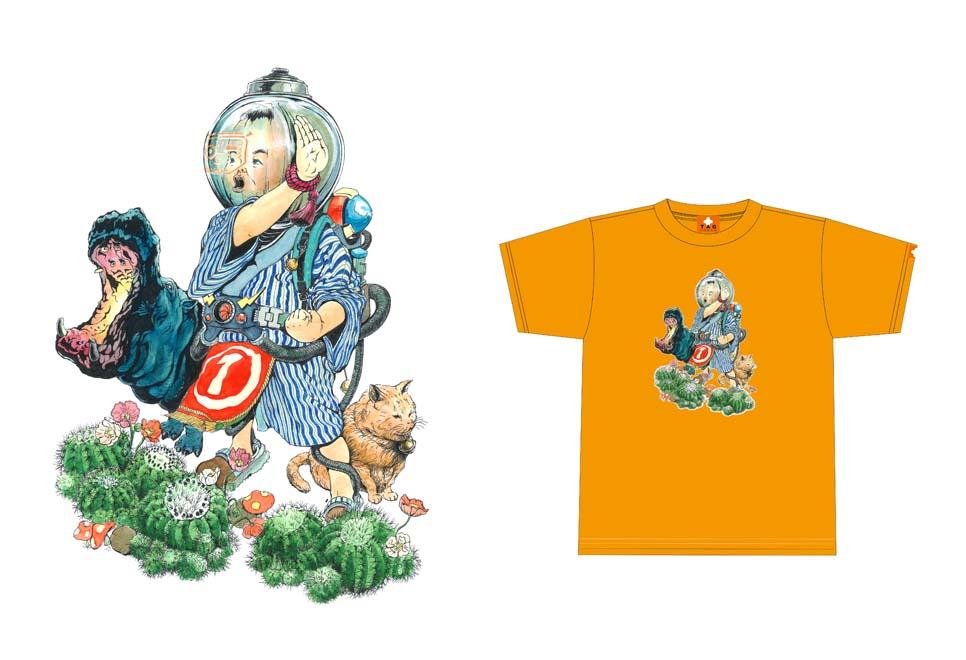 niwanoniwa × teppodejine ダブルネームTシャツ