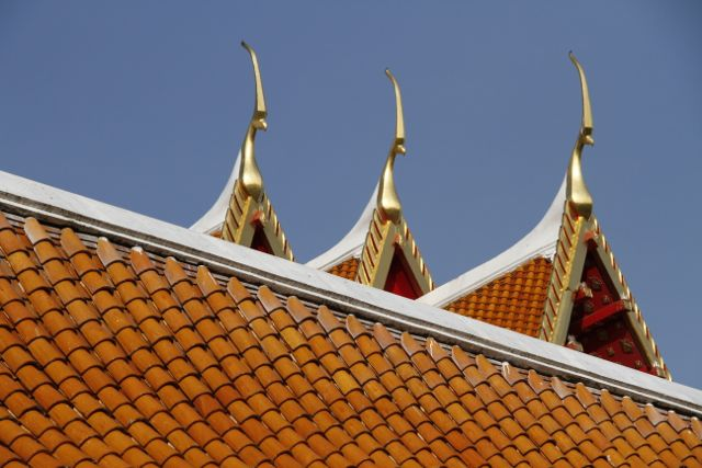 Thai temple roofs, Bangkok.