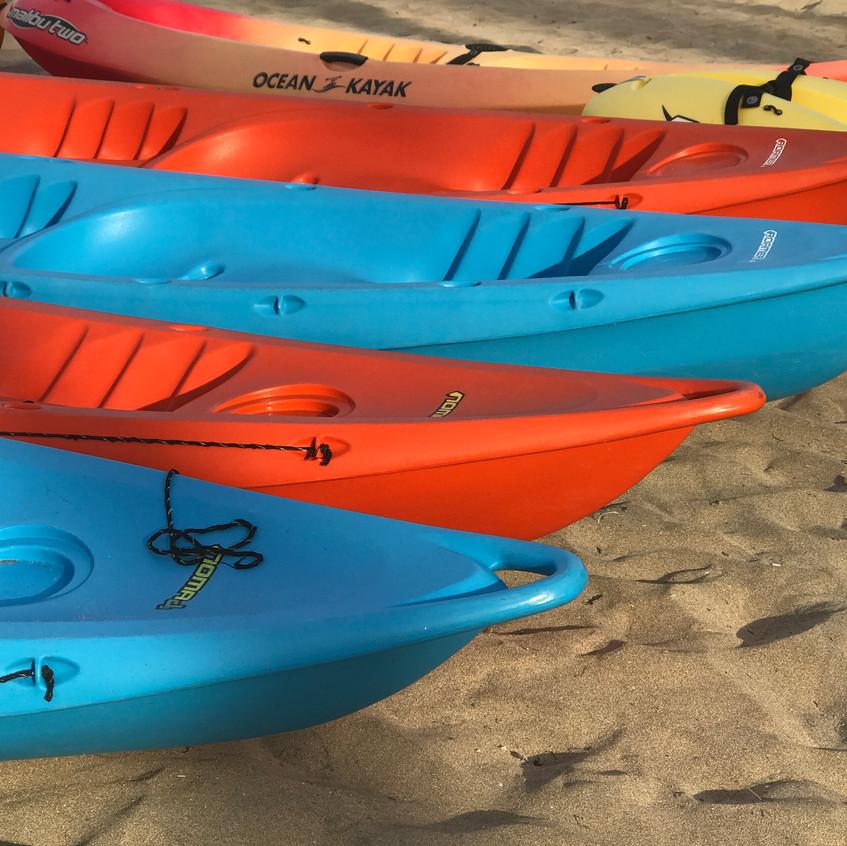 canoes on the beach