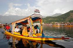 Shikara on Dal Lake, Kashmir.
