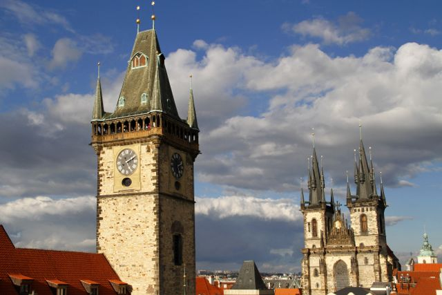 Tower and Steeples, Prague.