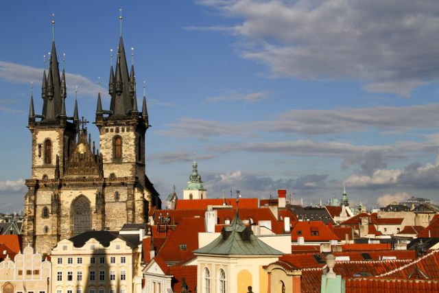 Gothic Steeples, Prague.