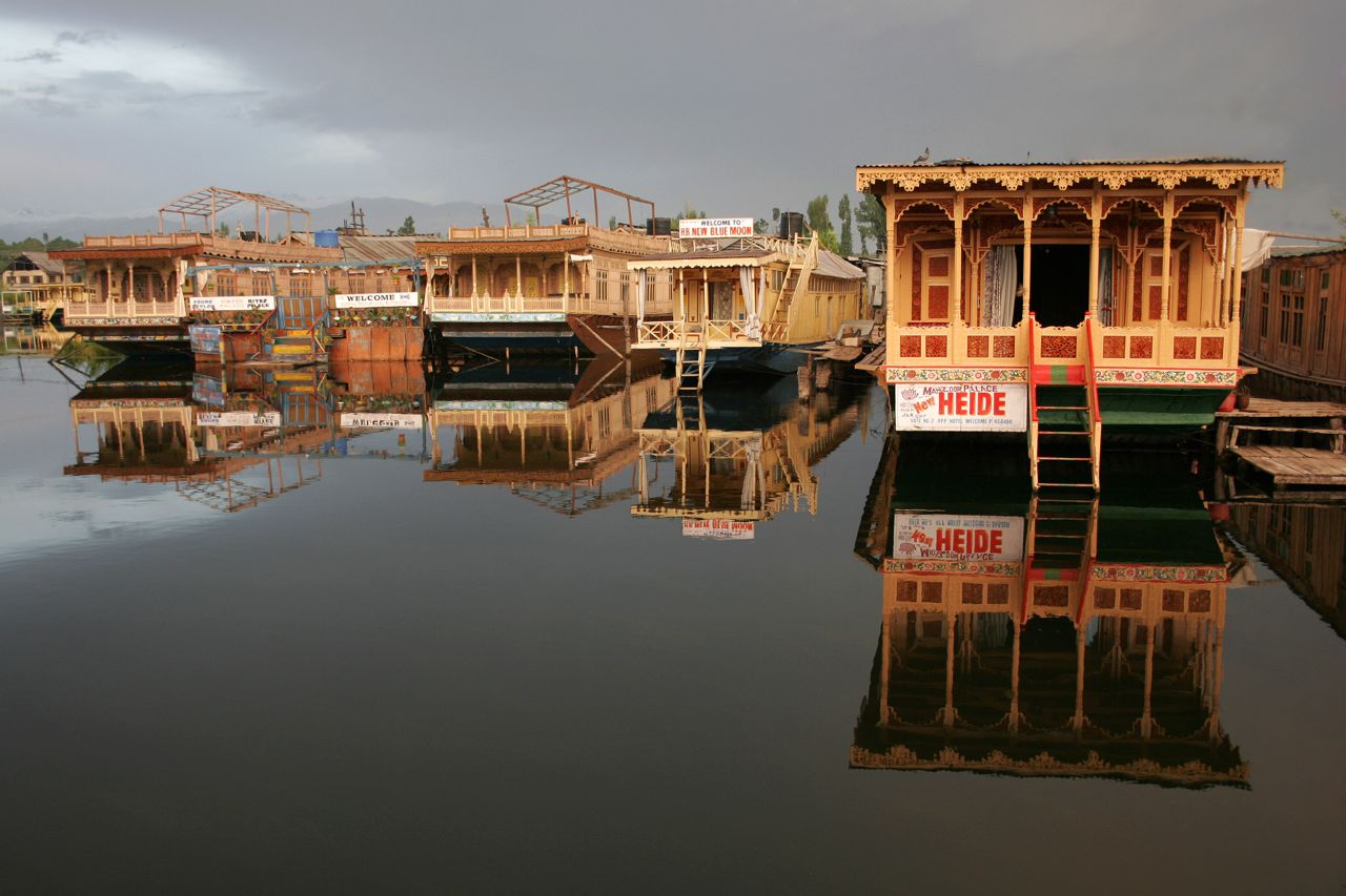 Dal Lake Reflections, Kashmir.