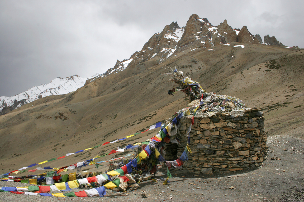 Tibetan  Prayer Flags and Shrine.