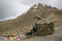 Tibetan  Prayer Flags and Shrine.
