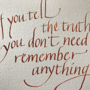 The truth - Calligraphy