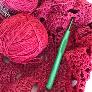 Vibrant Virus shawl