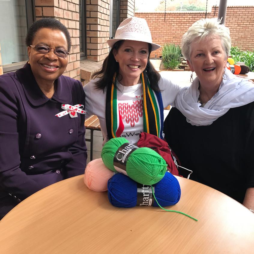 With Graca Machel and Carolyn Steyn