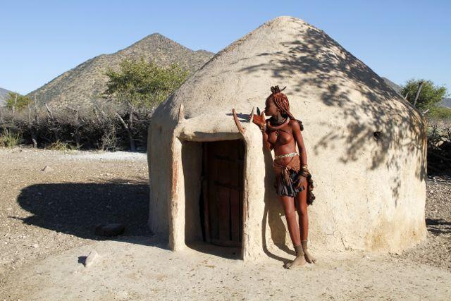 Himba home, Namibia.