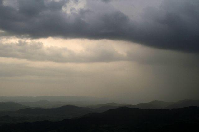 Ethiopian mountain storm.