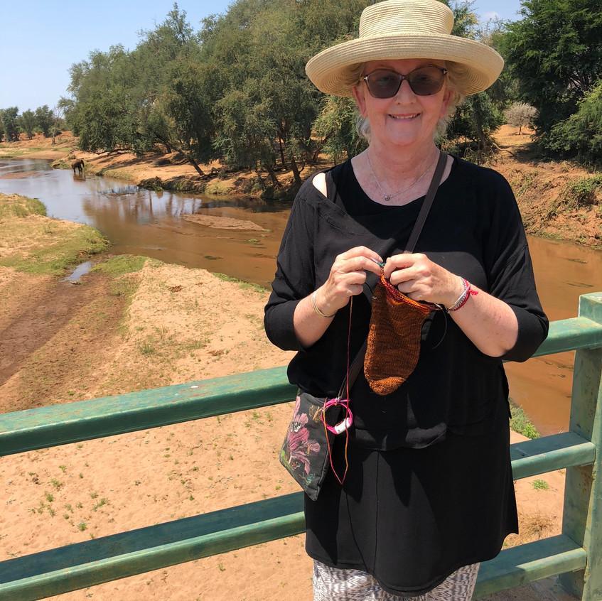on the bridge at Pafuri