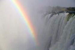 Victoria Falls Rainbow .