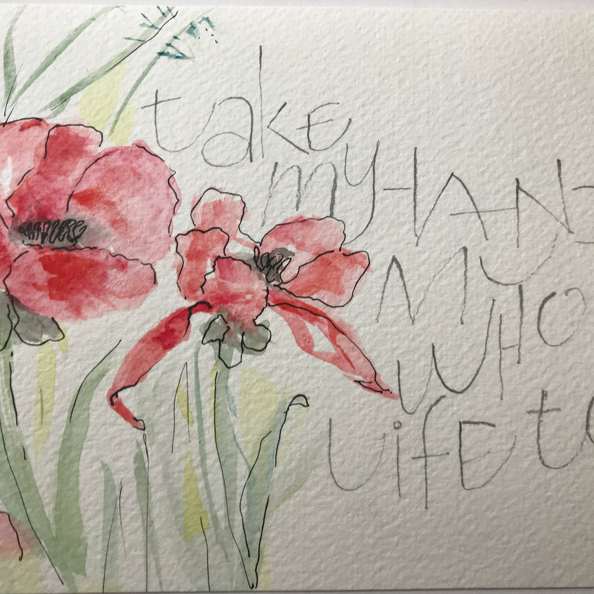 Water-colour & Lettering
